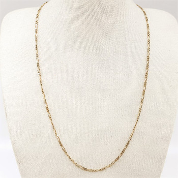 9ct Yellow Gold Figaro Chain Necklace 45cm 375 #54506