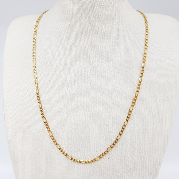 9ct Yellow Gold Figaro Link Chain Necklace 44cm 375 #55071