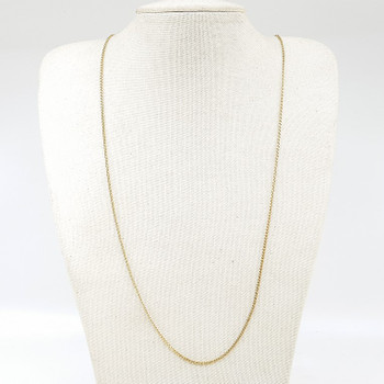 9ct Yellow Gold Curb Link Chain Necklace 65cm 375 #55276
