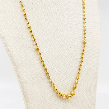 22ct Yellow Gold Bead Ball Design Necklace 51cm 97.5% #55680