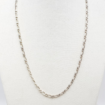 Sterling Silver Figaro Link Chain Necklace 46cm 925 #55421