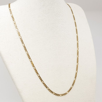 9ct Yellow Gold Figaro Chain Necklace 47cm 375 #55412