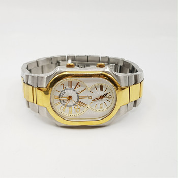 Philip Stein Signature Watch Two Tone Stainless Steel Band #55192