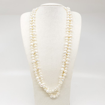 Freshwater Pearl Opera Sterling Silver Necklace 129cm #55384