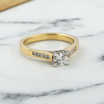 18ct Yellow Gold 0.61ct (+0.20) GIA Diamond Engagement Ring Val $11000 Size Q #17756