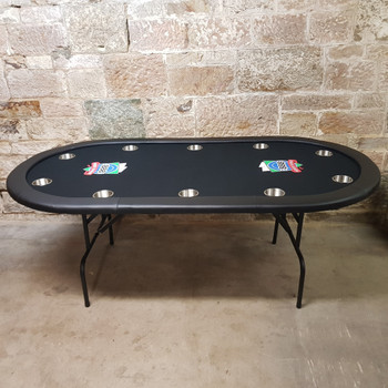 *NEW* 888 MDF Foldable Poker Table 10 Players Folding #41129