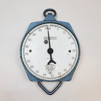 Large Vintage Salter Hanging Scales 235T - Pale Blue - Made in England #45509