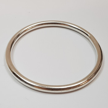 Sterling Silver Round Solid Bangle 61mm #45603
