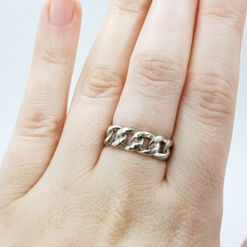 Sterling Silver Knot Ring Size M 925 #55087