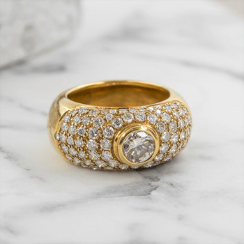 18CT 16.4GR YELLOW GOLD 3.01CT DIAMOND RING VAL $20650 SIZE Q1/2 #108885