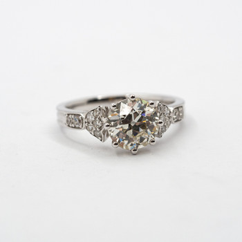 *NEW* 18CT WHITE GOLD 2.4CT TW DIAMOND ENGAGEMENT RING SIZE N + VAL $44865 #46848