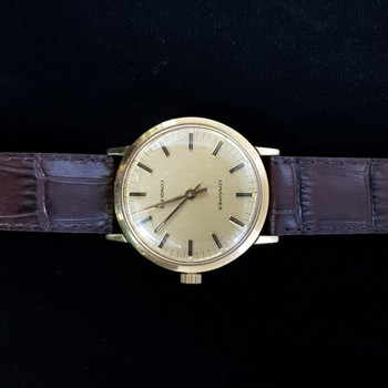 18CT LONGINES MANUAL WATCH CONQUEST YELLOW GOLD #41226