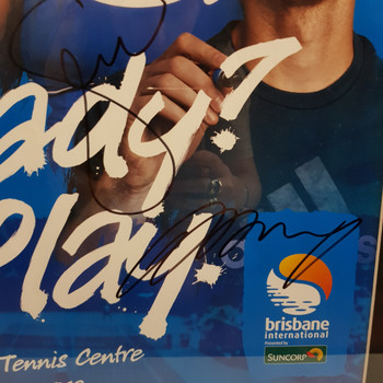 2013 BRISBANE READY PLAY FRAMED SIGNED POSTER ANDY MURRAY / SERENA WILLIAMS #48873