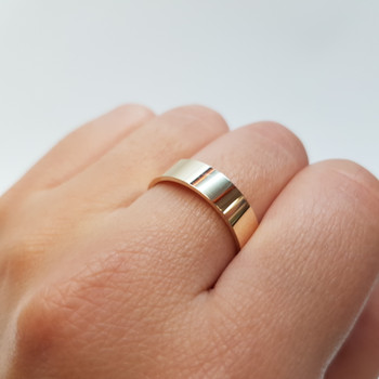 HIGH QUALITY VINTAGE RING 9CT YELLOW GOLD BAND 3.3GMS SIZE: P NEW #17672