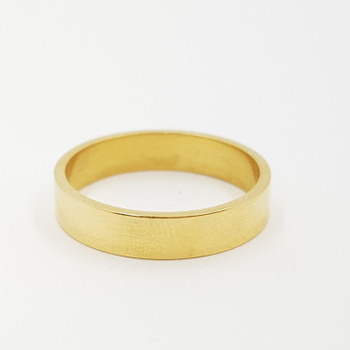 *NEW* 18CT 3.9GR HIGH QUALITY YELLOW GOLD BAND RING SIZE O #17654