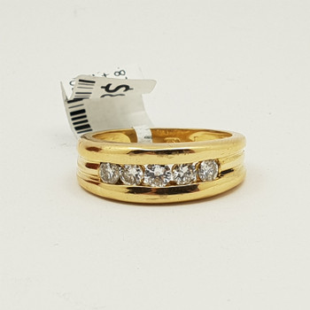 18CT 0.5CT G/SI YELLOW GOLD DIAMOND RING + VALUATION $2790 #47044