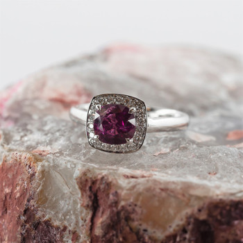 18CT RUBY & DIAMOND WHITE GOLD RING+VAL $11500 NEW SIZE N #190271