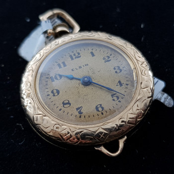 14CT 11.3GR YELLOW GOLD ELGIN NURSES WATCH C/1919 #1800023