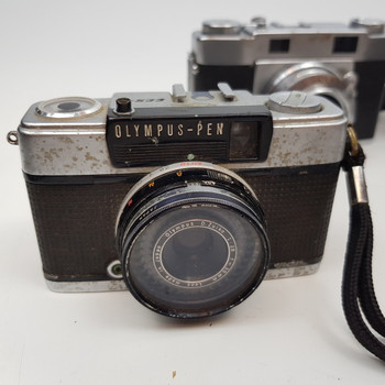 BULK CAMERA LOT - OLYMPUS 35RC PEN EES-2 35-S 35DC EES - AS IS FOR PARTS #51697