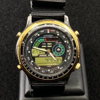 CITIZEN WATCH WITH NATO BAND WR100 C090-088841 #51729