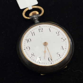 OMEGA POCKET FOB WATCH BL INSIGNIA ON THE BACK  OF CASE #31371