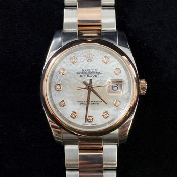 ROLEX DATEJUST 2 TONE WATCH 116201 #51844