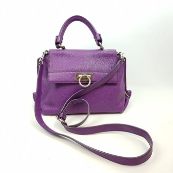 SALVATORE FERRAGAMO PURPLE SOFIA HANDBAG BW-21 D356 #44655