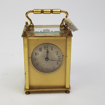 ROWELL & SONS CARRIAGE CLOCK DUVERDREY & BLOQUEL FRENCH MOVEMENT #48032