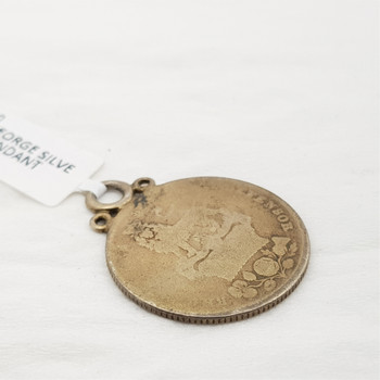 1826 KING GEORGE SILVER SIXPENCE COIN PENDANT / CHARM #200090