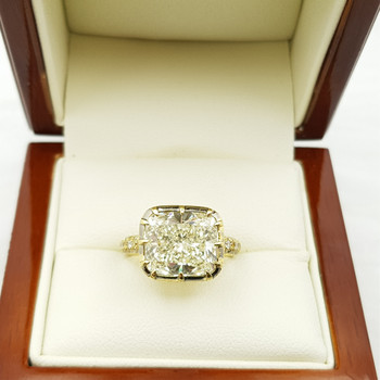 18CT 4.7GR 6.12CT YELLOW GOLD SOLITAIRE DIAMOND RING SIZE P1/2 VAL $74600 #51779