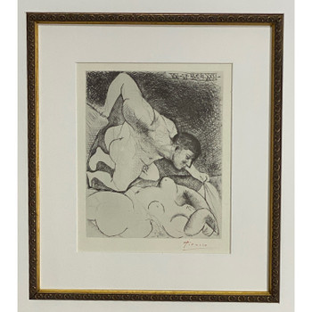 PABLO PICASSO (1881-1973) PAINTING - SIGNED LITHOGRAPH - SUITE VOLLARD - WITH COA #46505