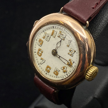 ROLEX VINTAGE 9CT GOLD MANUAL WATCH C/1947 - SERVICED #52072