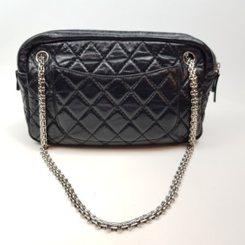 CHANEL BLACK LAMBSKIN BAG CIRCA 08/09 WITH COA #52132