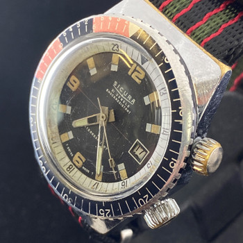 SICURA VINTAGE AUTOMATIC DIVER WATCH 21 JEWELS - SERVICED #47392