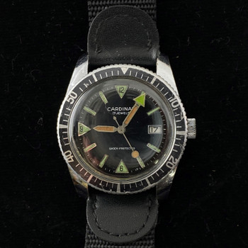 CARDINAL VINTAGE AUTOMATIC DIVERS WATCH - SERVICED #47393