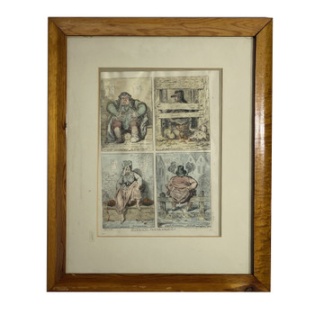 JAMES GILLRAY (1757-1815) PRINT - NATIONAL CONVENIENCES CIRCA 1796 BY HUMPHREYS #52043