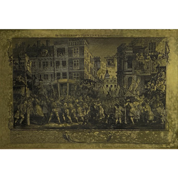 THE INDUSTRIOUS PRENTICE LORD MAYOR OF LONDON - ETCHING ON BRASS #52044