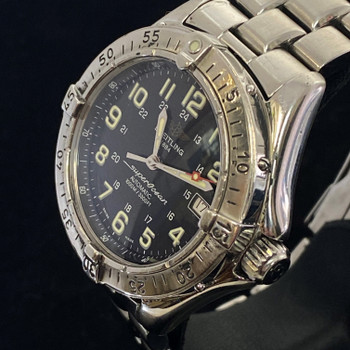 BREITLING SUPEROCEAN A17340 AUTOMATIC WATCH + BOX, BOOKS & SERVICED #51761