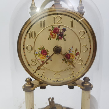 GLASS DOME CLOCK - MADE IN GERMANY #1800121