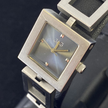 JAG LADIES QUARTZ WATCH J638A SILVER BLUE SQUARE DIAL #51979