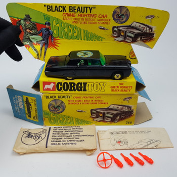 CORGITOY COLLECTABLE 1966 GREEN HORNET CAR IN BOX + ACCESSORIES #51437