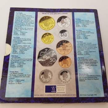 UK 1994 ROYAL MINT COIN SET - UNCIRCULATED COLLECTION #52228