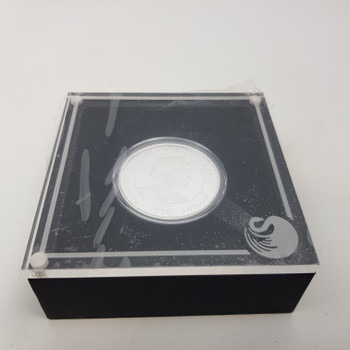 75th ANNIVERSARY OF THE END OF WWII 1OZ .9999 SILVER PROOF $1 COIN & CASE #52105