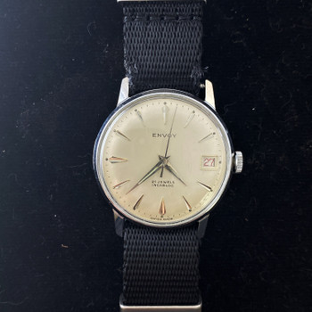 ENVOY VINTAGE INCABLOC SWISS MANUAL WATCH - SERVICED #52275