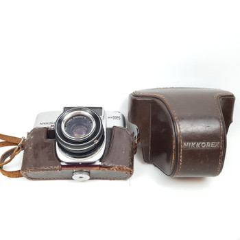 EARLY NIKKOREX AUTO 35 FILM CAMERA + CASE/LENS (FAULTY WINDER) #00548