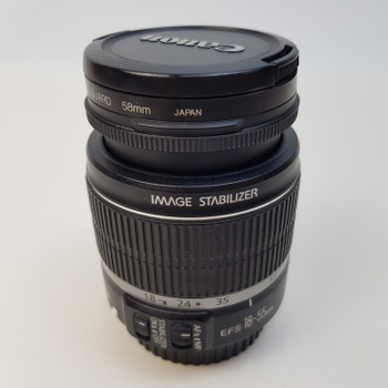 CANON CAMERA LENS - EF-S 18-55MM F/3.5-5.6 IS #52308