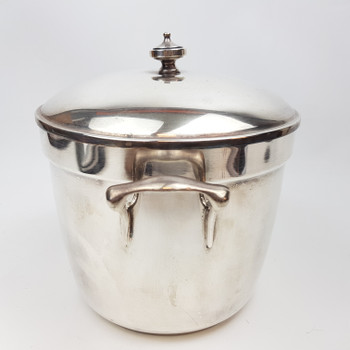 CRESCENT SILVER PLATED ICE BUCKET - MADE IN USA #52288