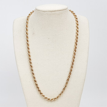 9CT 11.2GR YELLOW GOLD ROPE CHAIN / NECKLACE #50145
