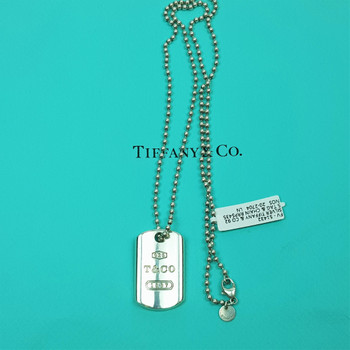 TIFFANY & CO 925 SILVER TAG & NECKLACE CHAIN #51432