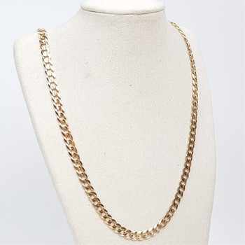 9CT 22.1GR YELLOW GOLD CURB LINK CHAIN / NECKLACE #51588